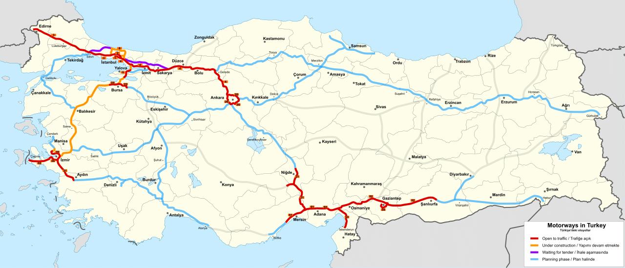 Türkiye'deki Otoyolları